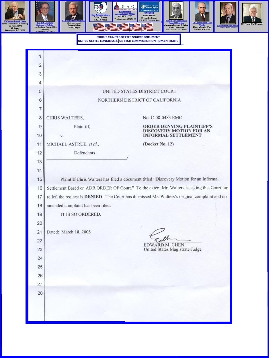 exhibit page #23 (ssa hearing lacks review legal standing